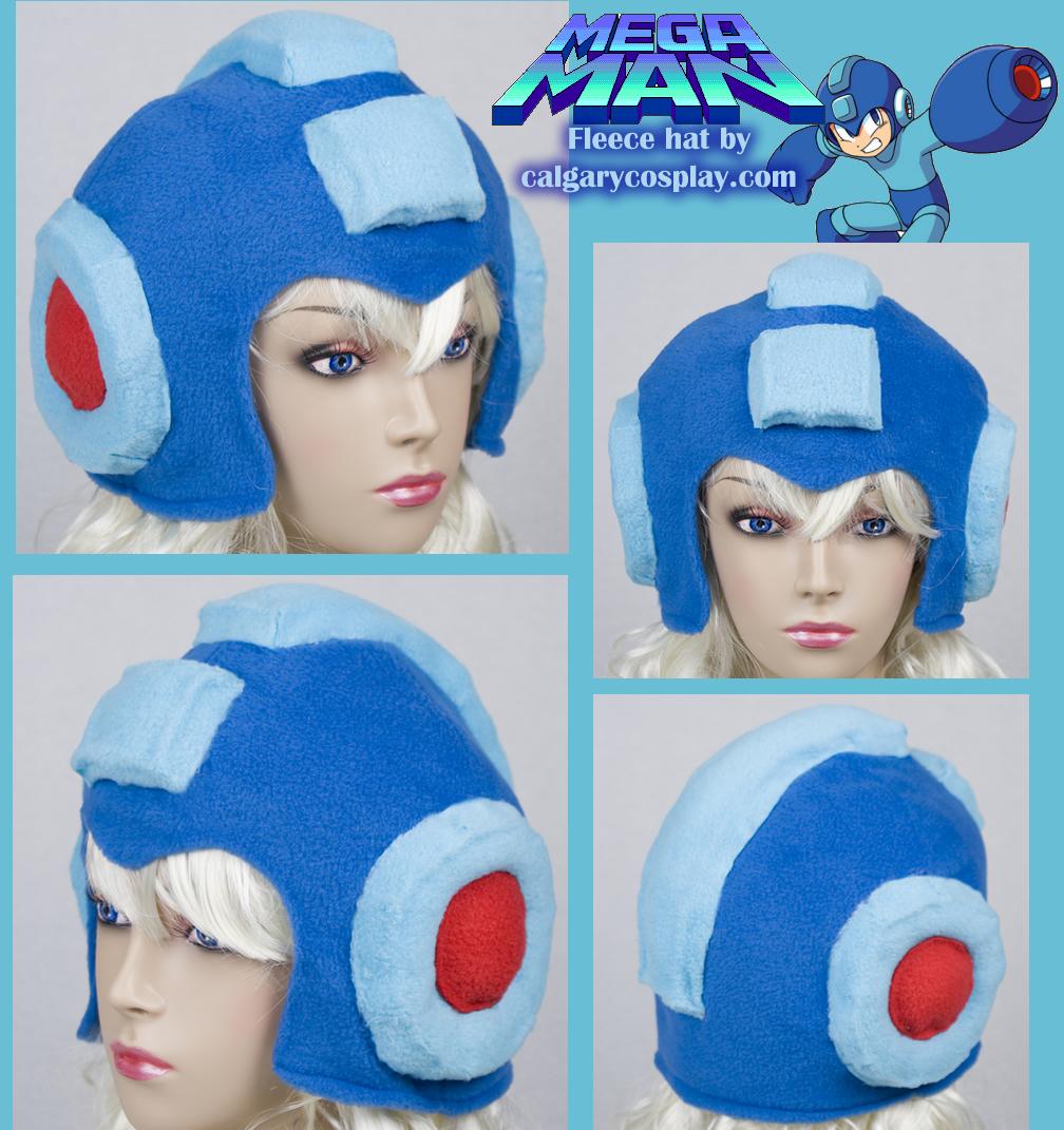 Megaman Hat Helmet Cosplay by calgarycosplay