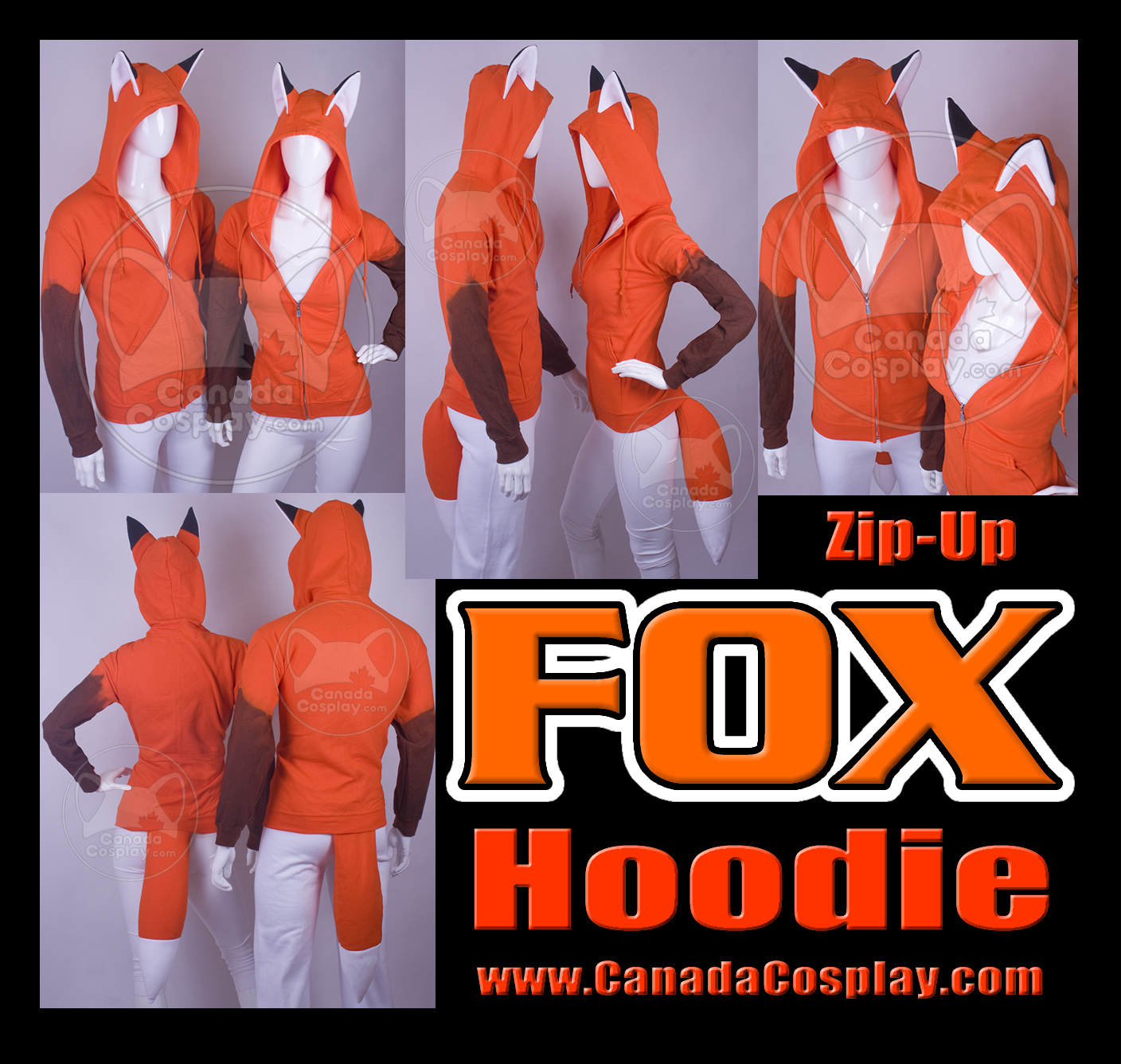 Fox Hoodie Kitsune Cosplay by calgarycosplay