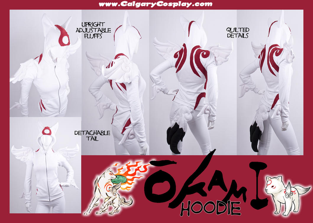 Amaterasu Okami Hoodie Cosplay by calgarycosplay