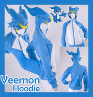 Digimon Veemon Cosplay Hoodie by KayPikeFashion