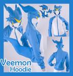Digimon Veemon Cosplay Hoodie