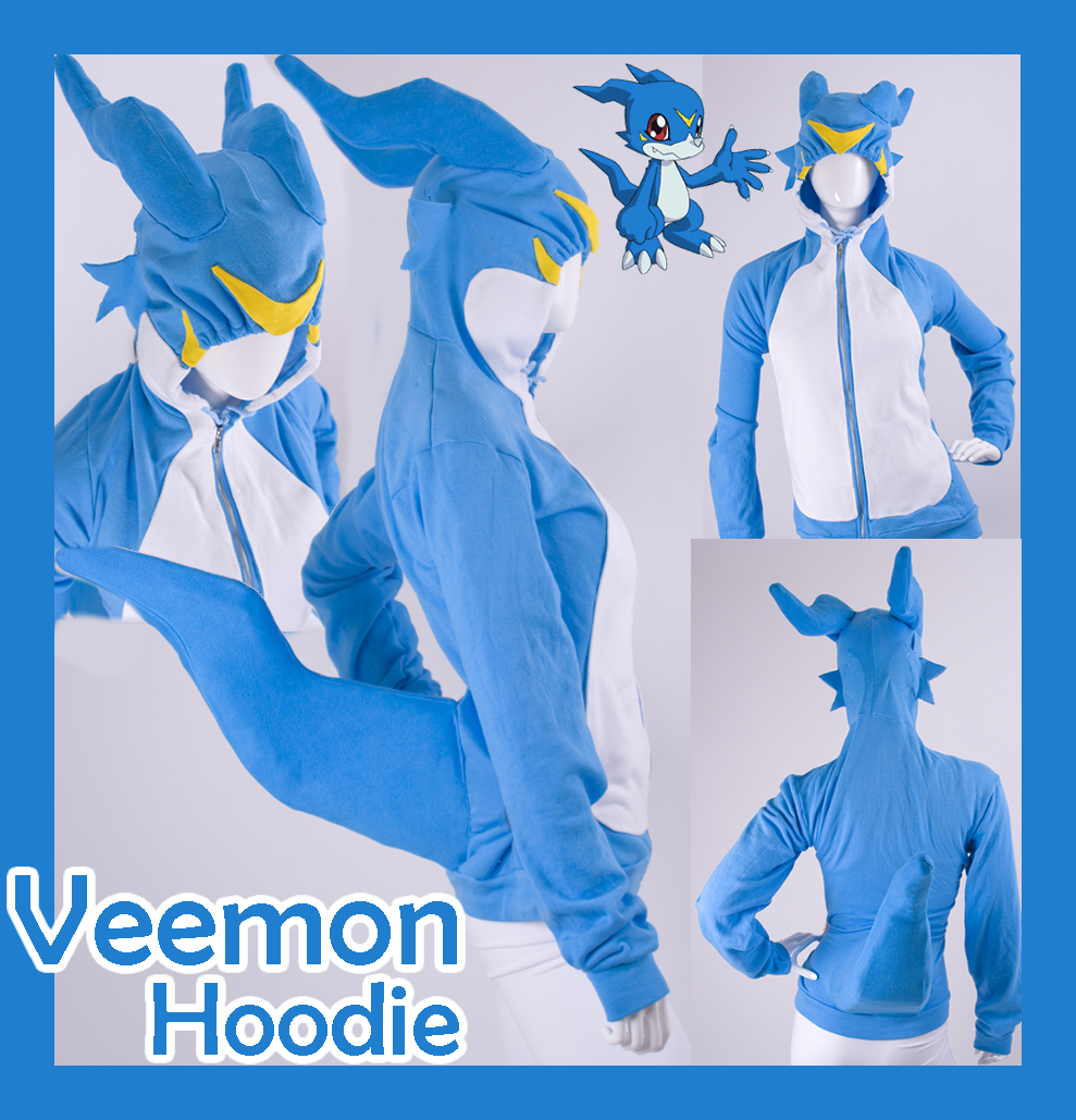 Digimon Veemon Cosplay Hoodie by calgarycosplay