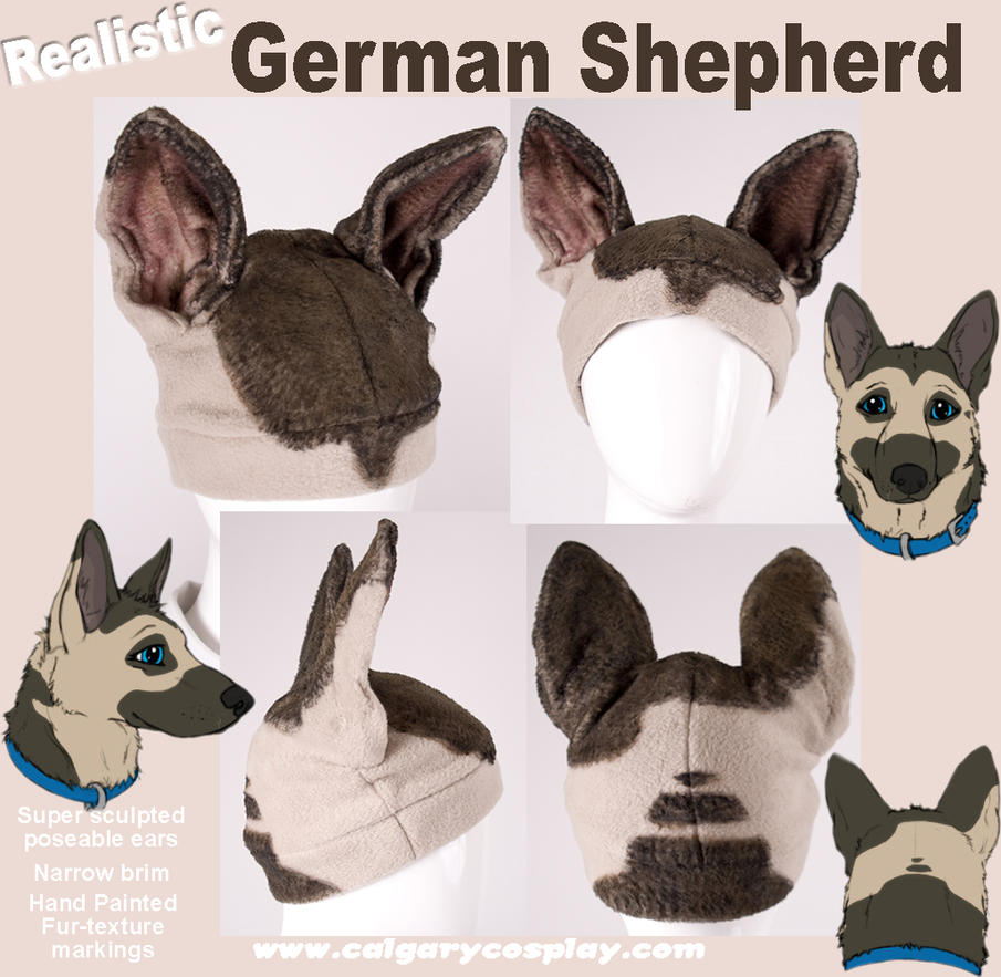 Realistic German Shepherd Hat by calgarycosplay