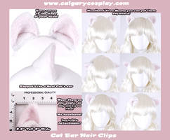 Wt Neko Cosplay Cat Ear Clips by KayPikeFashion