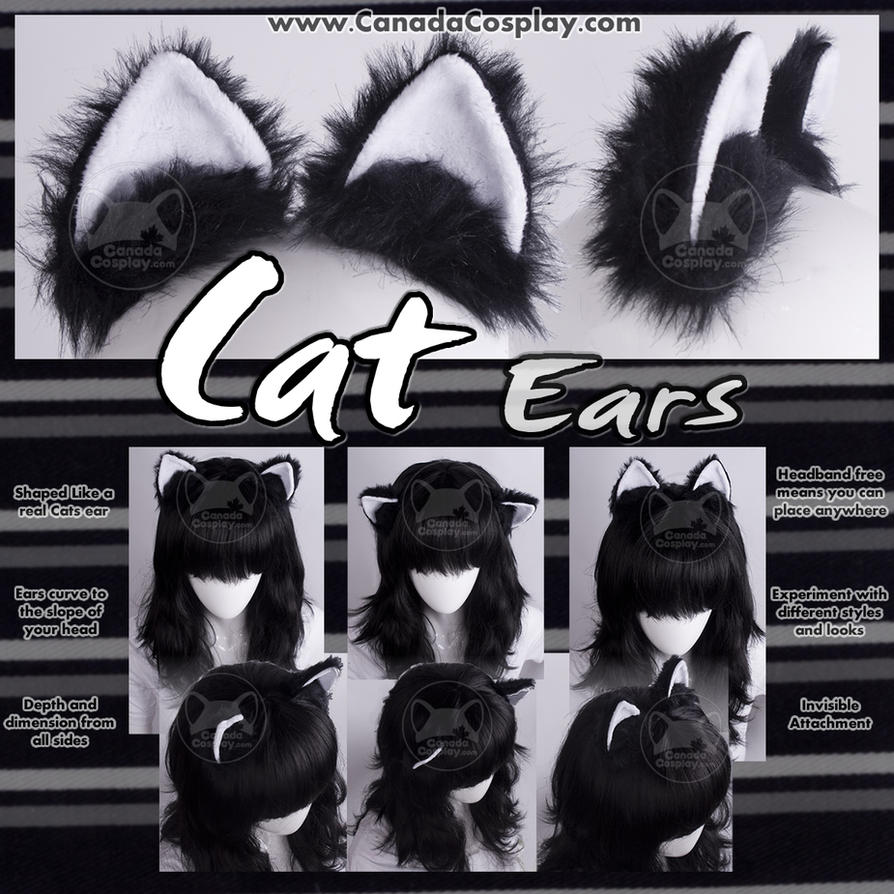 Cat Ears in Black and White by calgarycosplay