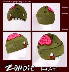 Cute Handmade Zombie Hat by KayPikeFashion
