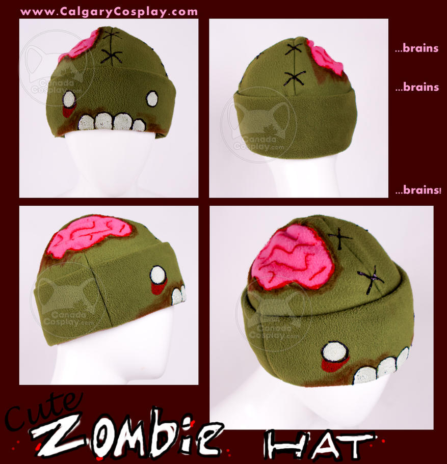 Cute Handmade Zombie Hat by calgarycosplay