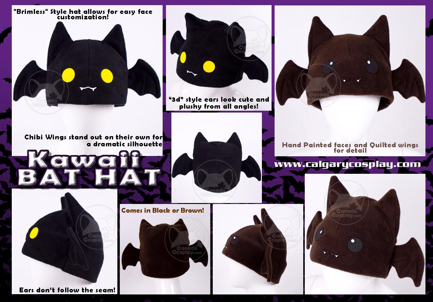 Kawaii Bat Hat, WINNER by calgarycosplay