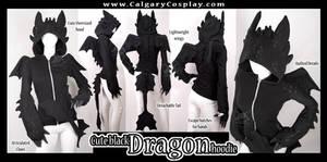 Cute Black Dragon Hoodie