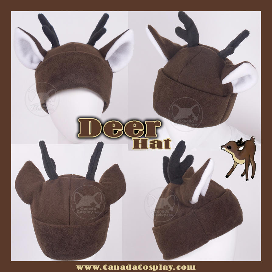 Little Brown Deer Hat by calgarycosplay