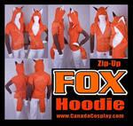 Zip Fox Hoodie Kitsune Cosplay