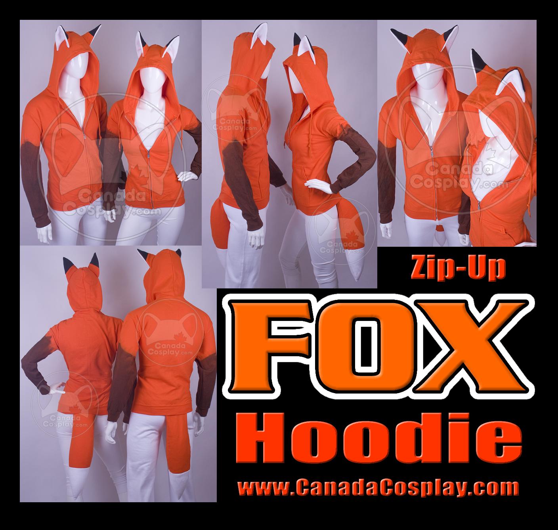 Zip Fox Hoodie Kitsune Cosplay by calgarycosplay