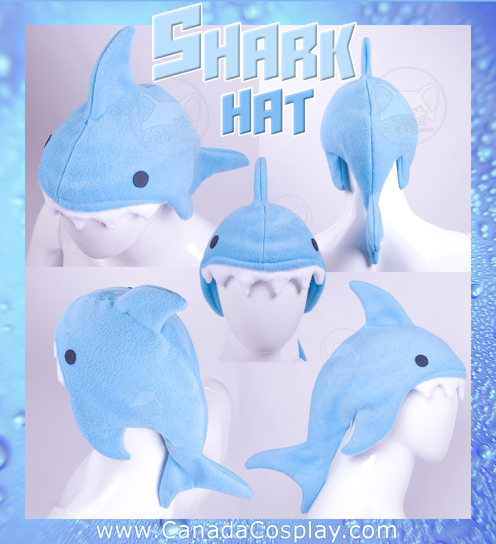 Blue Shark Hat by calgarycosplay