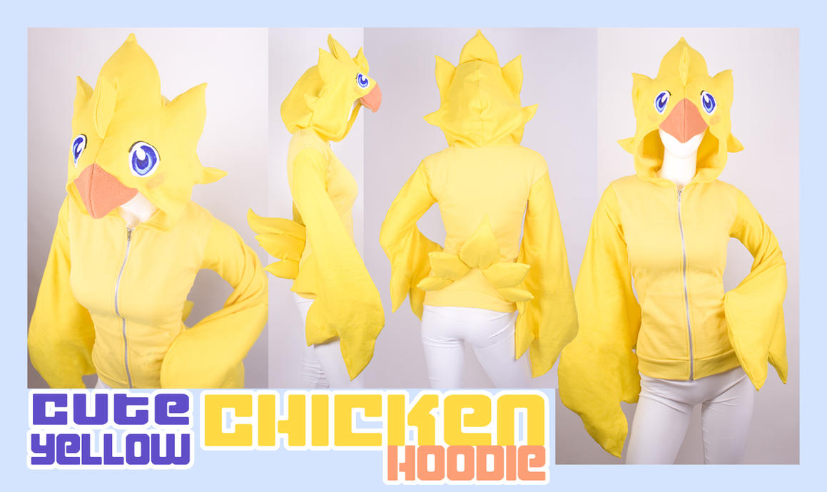 Cute Yellow Chicken Hoodie by calgarycosplay