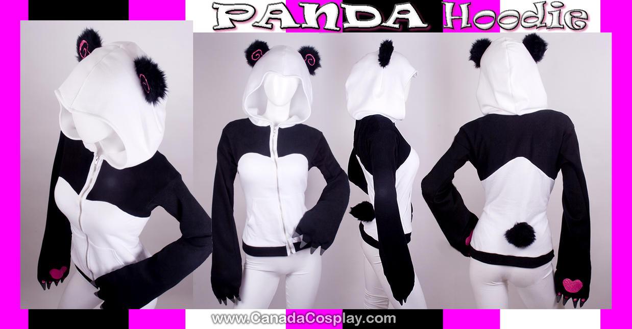Stylized Panda Hoodie by calgarycosplay