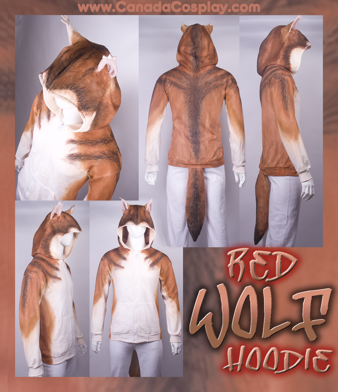 Red Wolf Hoodie by calgarycosplay