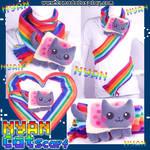 2011 Nyan Cat Kitten Scarf by KayPikeFashion