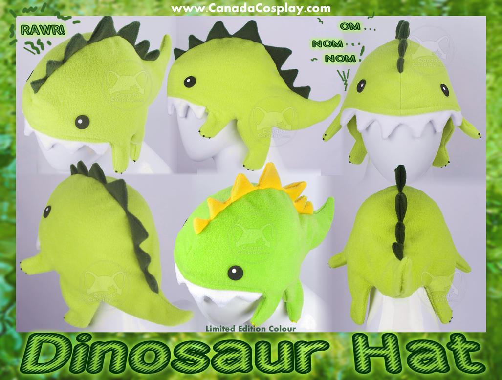 Dinosaur Hat OM NOM NOM by calgarycosplay