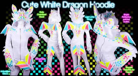 Cute White Dragon Hoodie