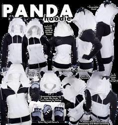 Panda Hoodie by KayPikeFashion