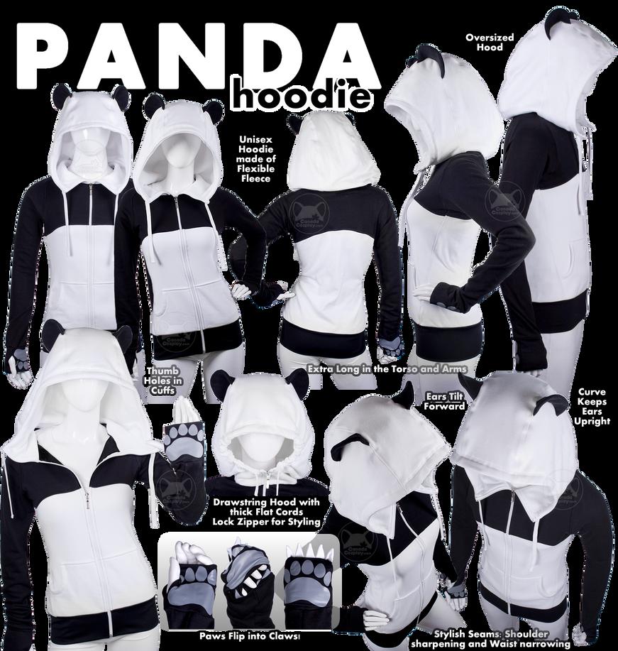 Panda Hoodie by calgarycosplay