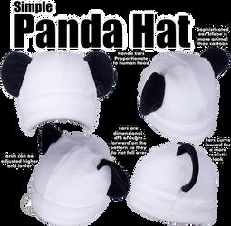 Simple Panda Hat by KayPikeFashion