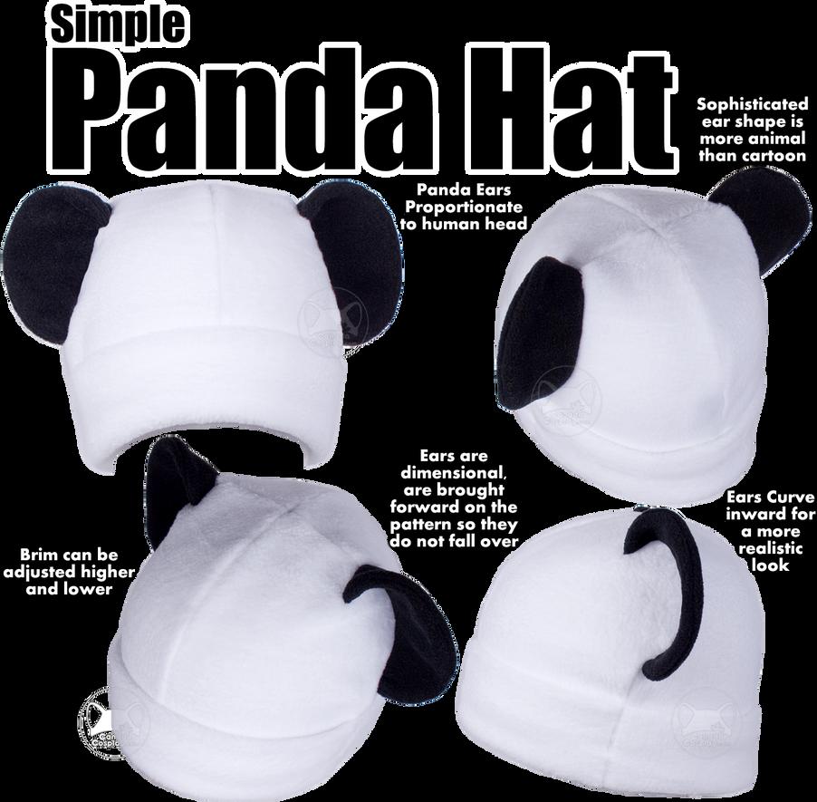 Simple Panda Hat by calgarycosplay