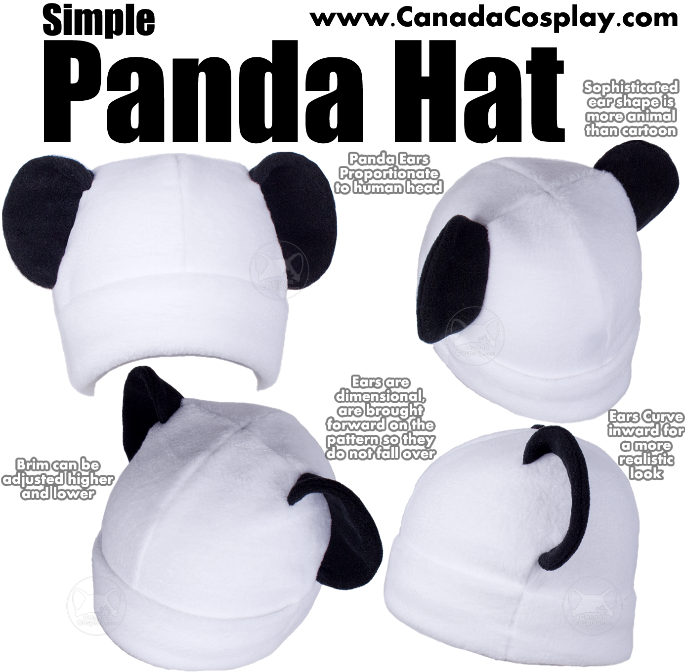 Simple Panda Hat by calgarycosplay
