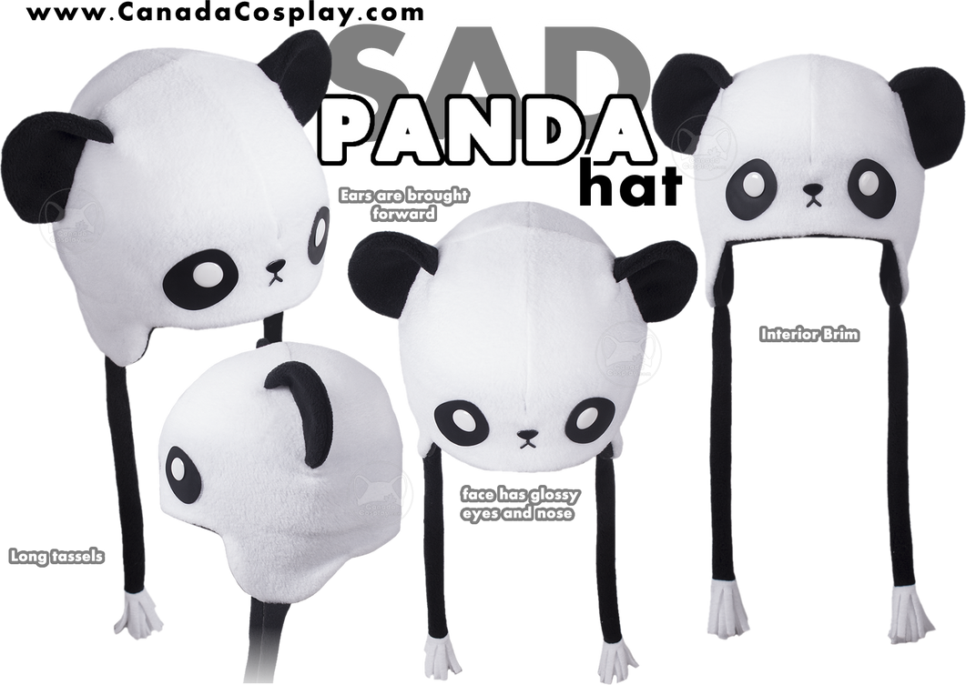 Sad Panda Hat by KayPikeFashion