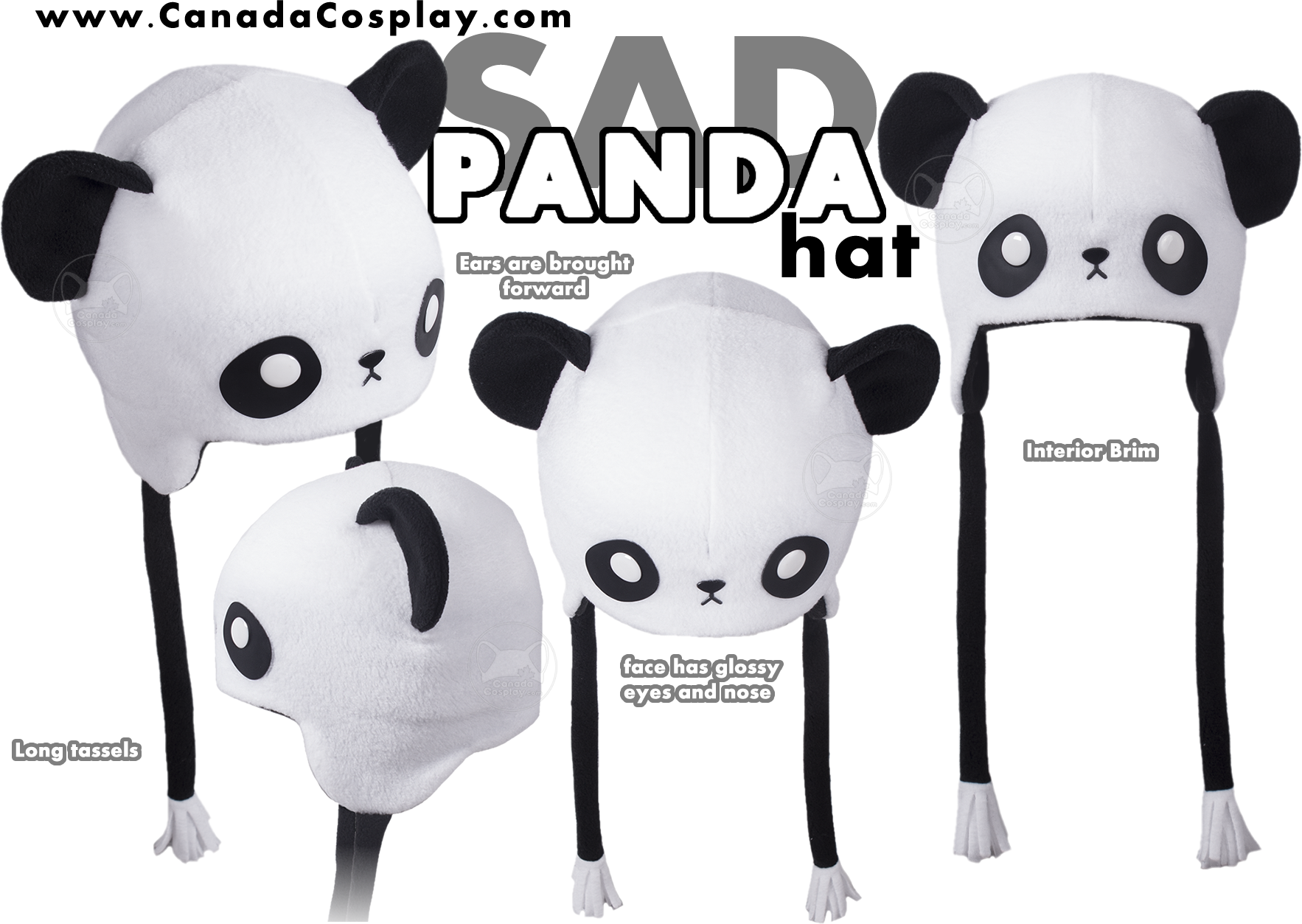 Sad Panda Hat by calgarycosplay