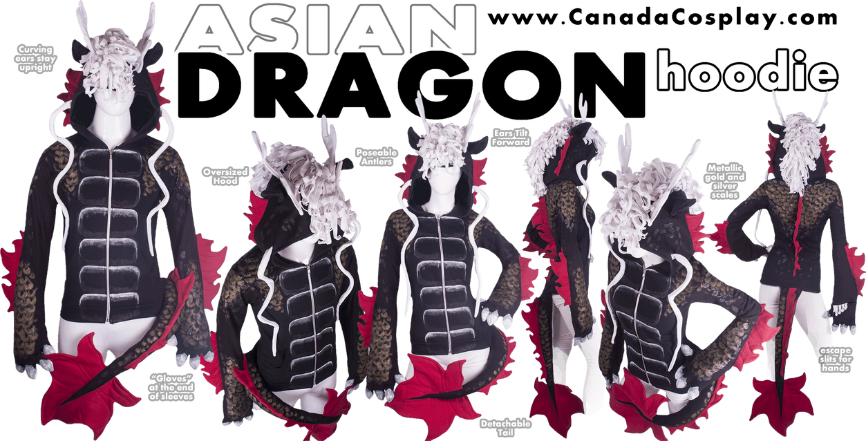 Asian Dragon Hoodie by calgarycosplay
