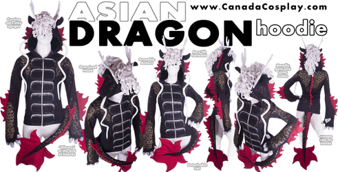 Asian Dragon Hoodie by KayPikeFashion