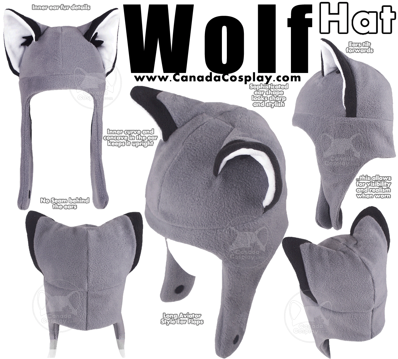 Wolf Hat by calgarycosplay