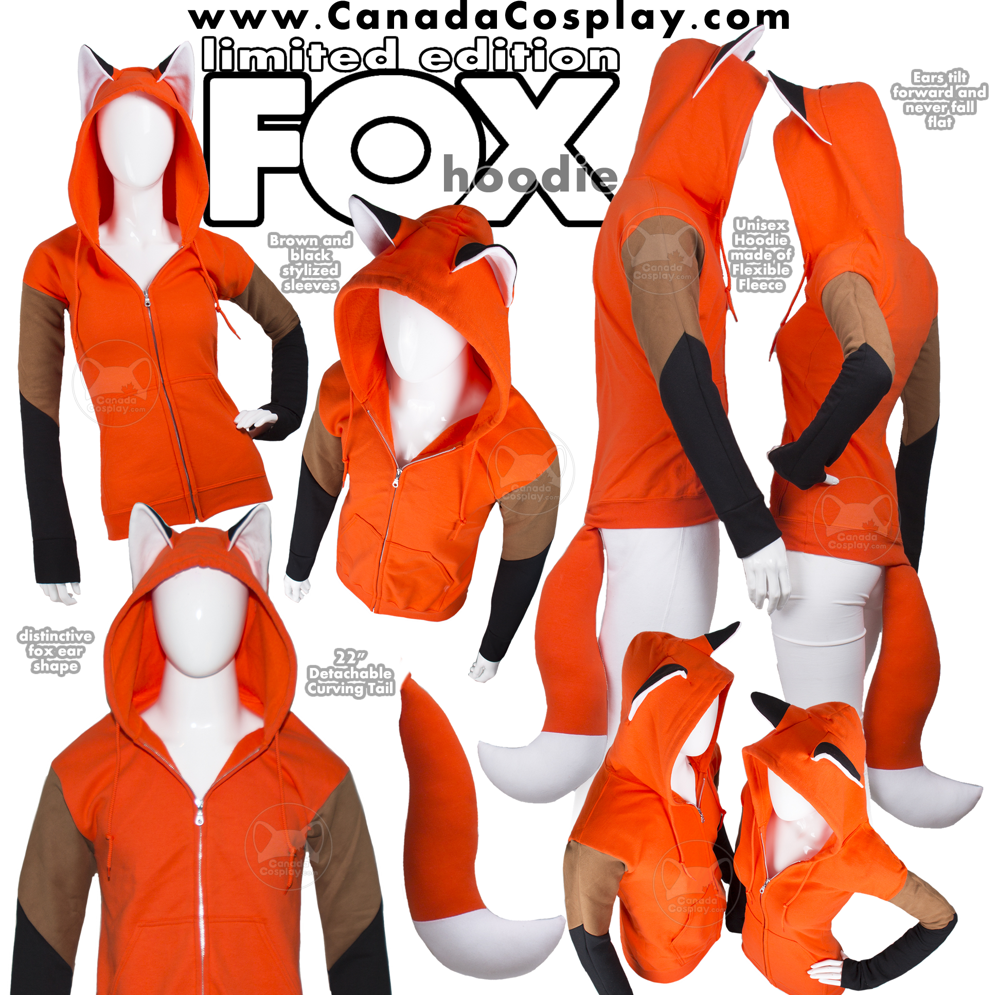 Fox Hoodie Limited Edition by calgarycosplay