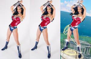 Wonder woman cosplay photoshop progress WIP by KayPikeFashion