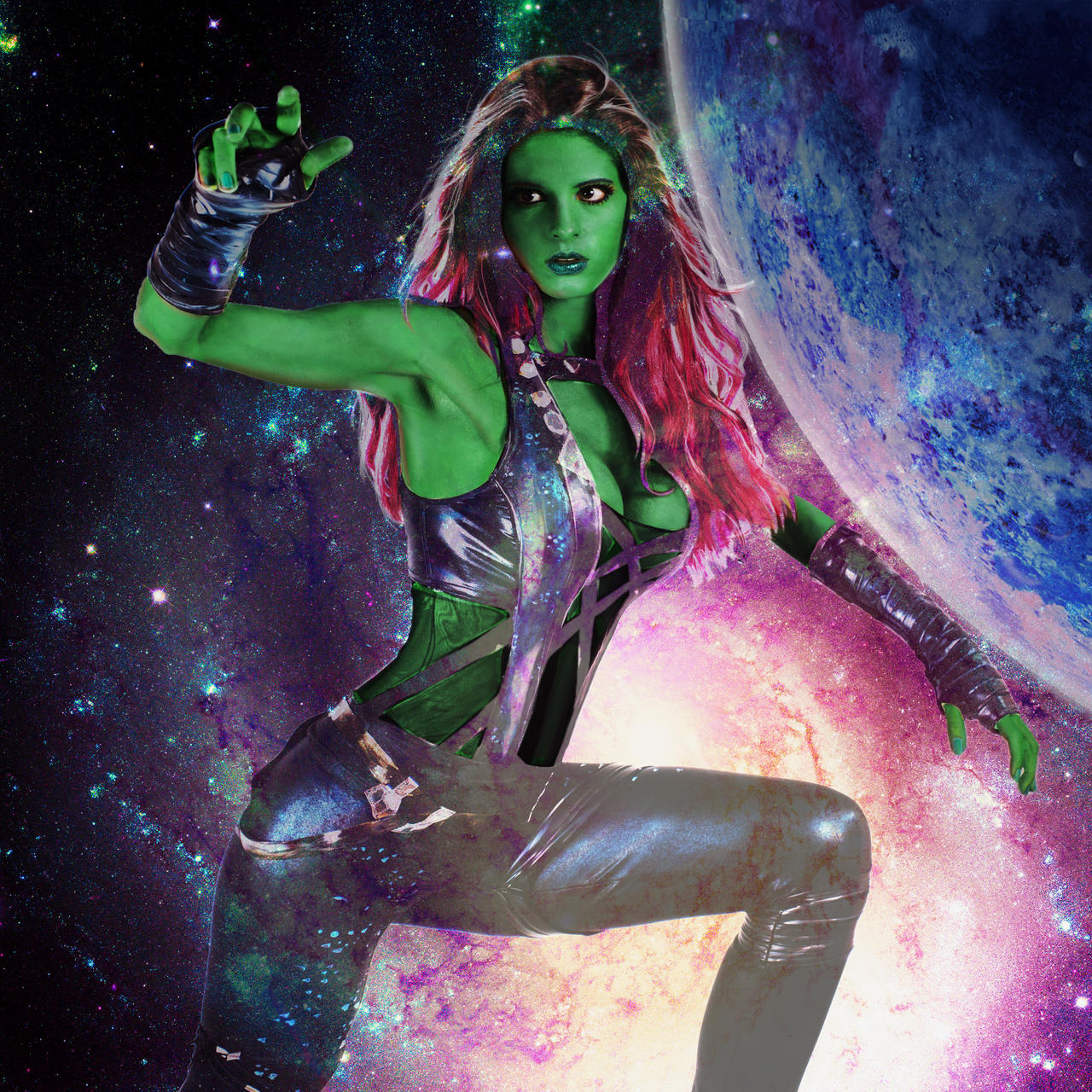 Gamora Cosplay, Galaxy Serendipity by KayPikeFashion