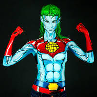 Captain Planet Bodypaint by KayPikeFashion
