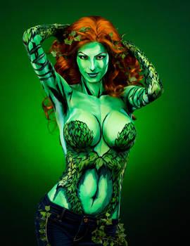 Poison Ivy Bodypaint
