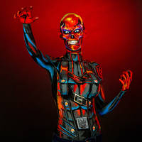 Redskull Bodypaint by KayPikeFashion