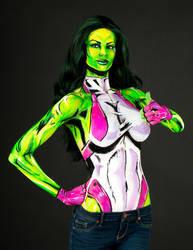 She Hulk Bodypaint