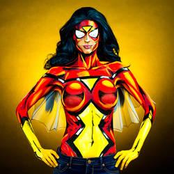 Spiderwoman Bodypaint