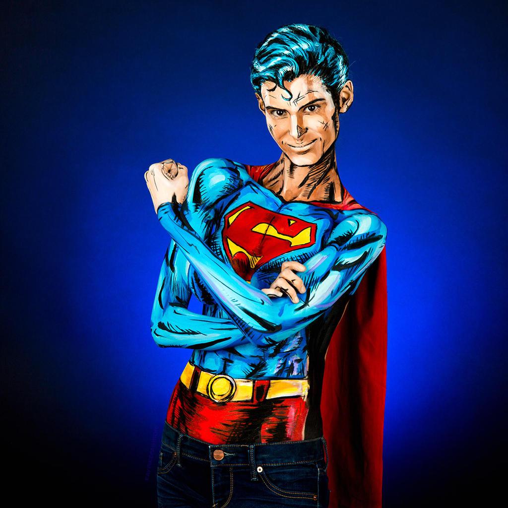 Superman Bodypaint