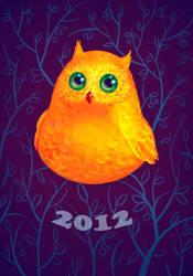 Little owl by Miriele