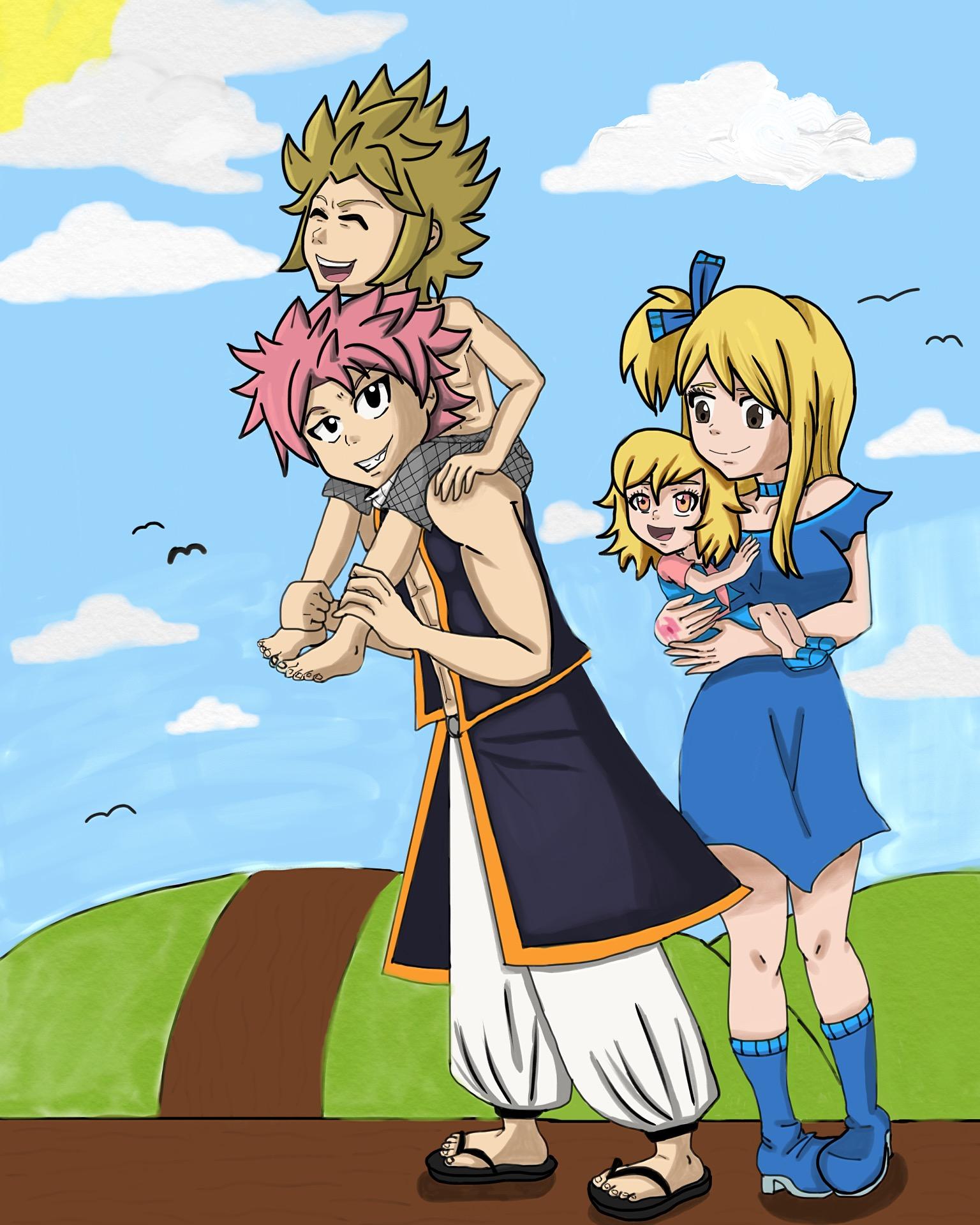 Nalu Family (Natsu X Lucy) by Karyf321 on DeviantArt