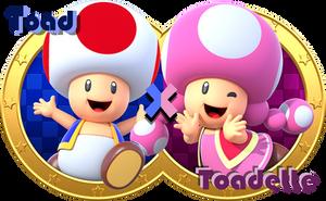 Toad X Toadette by CaitlinTheStarGirl