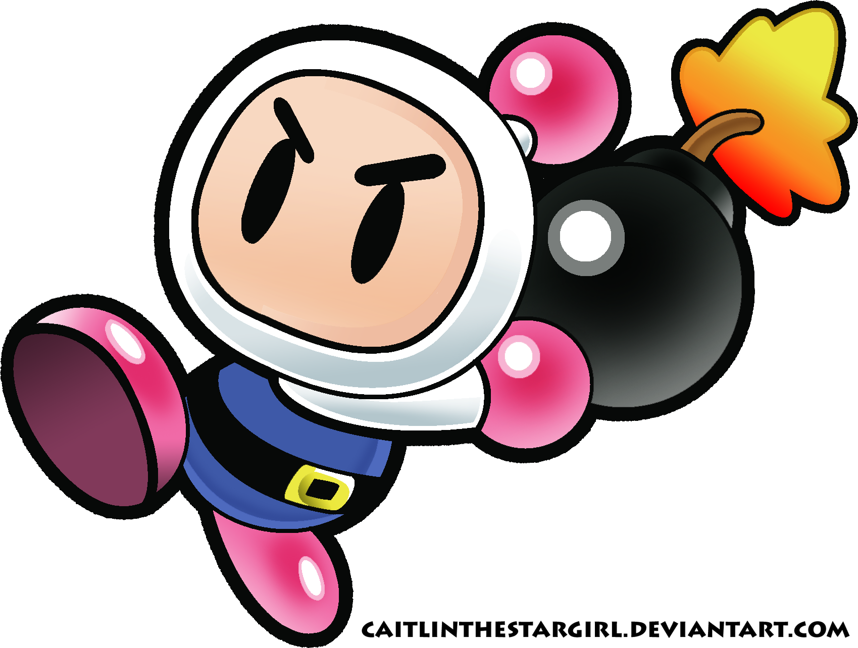 super paper bomberman by caitlinthestargirl on deviantart