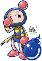 .:Blue the Tired Bomberman:. by CaitlinTheStarGirl