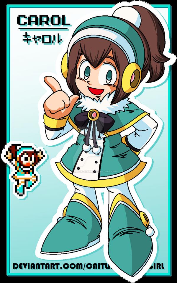 .:Mega Man Persona - Carol:. by CaitlinTheStarGirl
