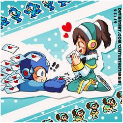 .:Mega Man x Carol - Love Letters:. by The-Brunette-Amitie