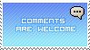 Comments Welcome Blue by Harrier2569